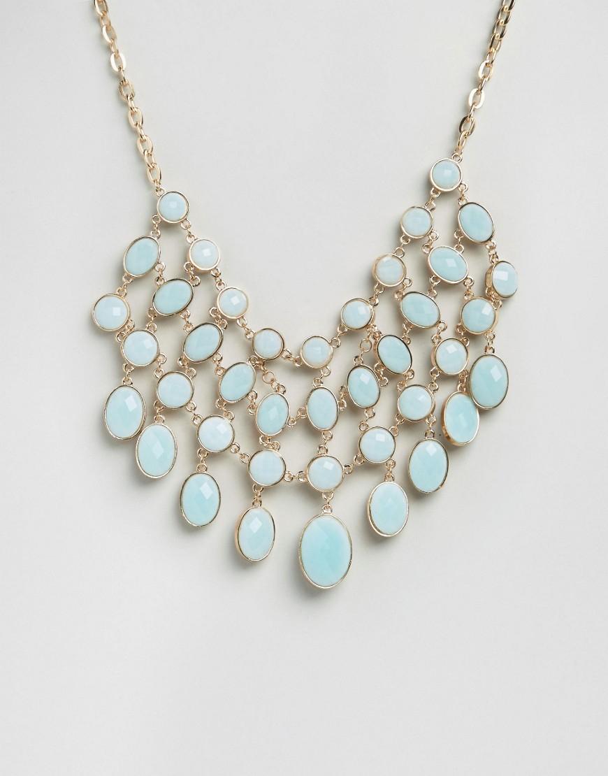 aldo giewet statement necklace in blue lyst