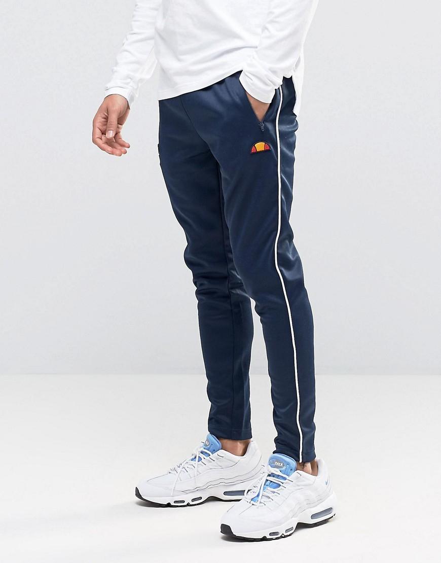 ellesse skinny joggers in poly in blue for men lyst. Black Bedroom Furniture Sets. Home Design Ideas