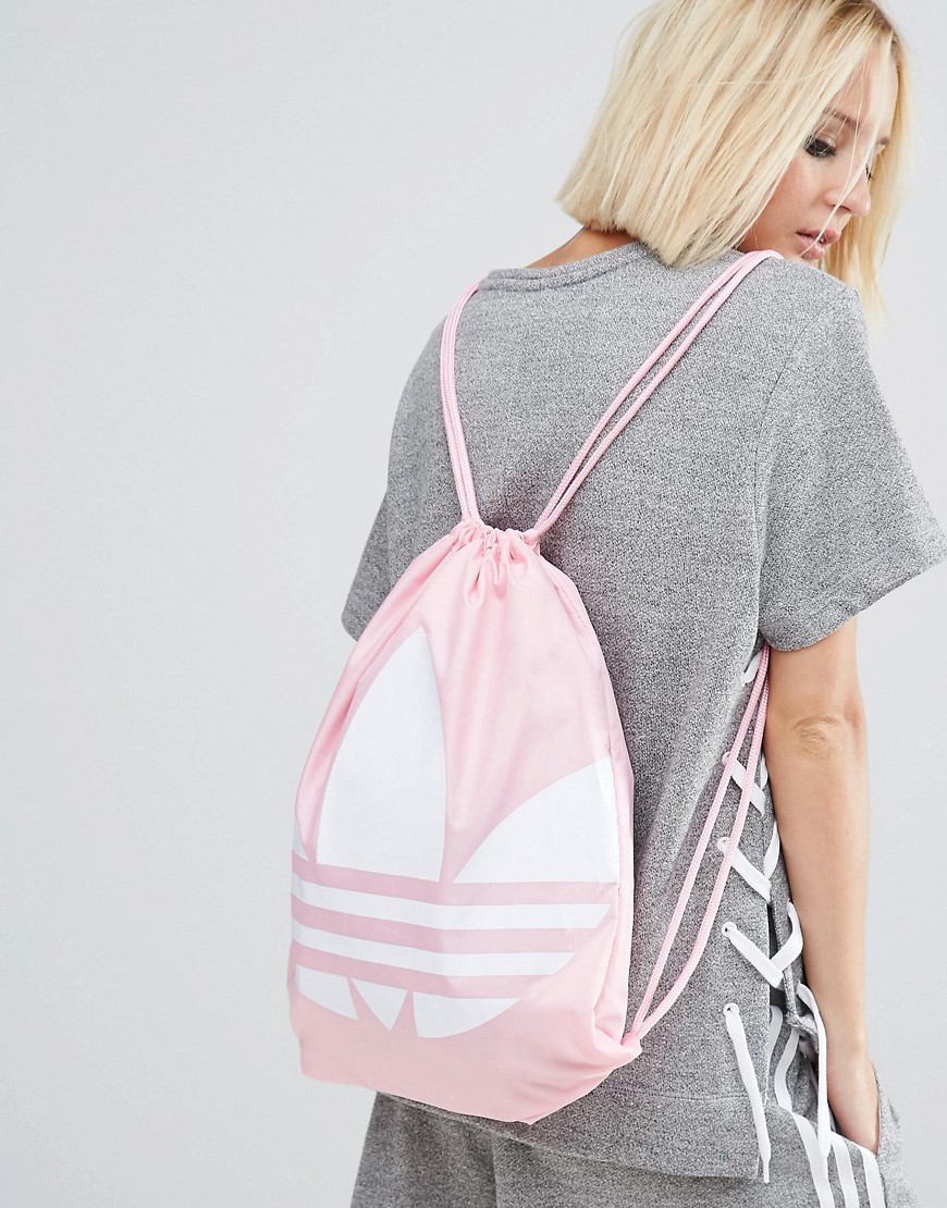 082e1f3e70d6 Lyst - adidas Originals Originals Drawstring Backpack With Trefoil Logo -  Pink in Pink