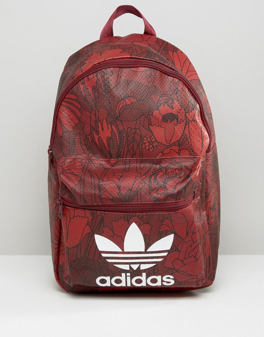dac434d264 Lyst - adidas Originals Originals Floral Print Backpack With Trefoil ...