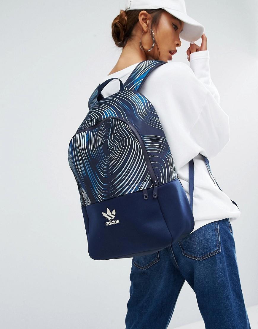 Lyst - adidas Originals Originals Geology Print Backpack in Blue 4c0501fb51e5c