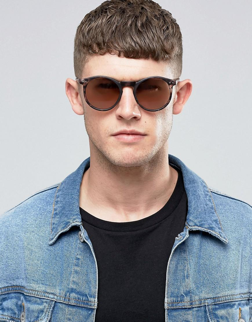 New Look Round Sunglasses In Tort - Tort in Brown for Men