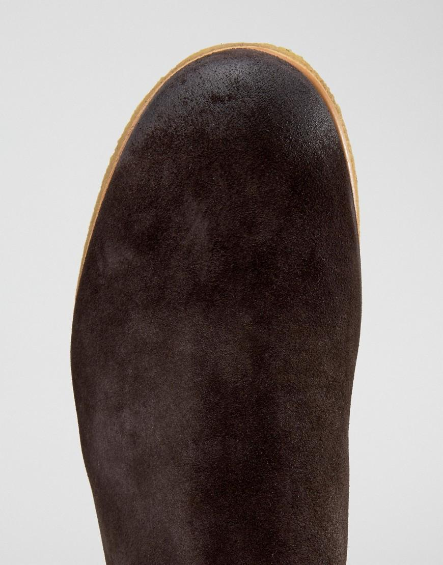 Shoe The Bear Gore Suede Chelsea Boots