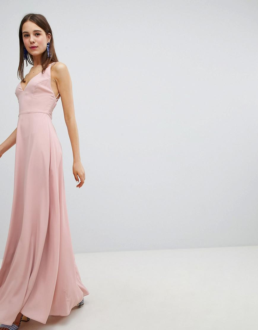 New Look Strappy Back Maxi Dress in Natural - Lyst 24b1539d3
