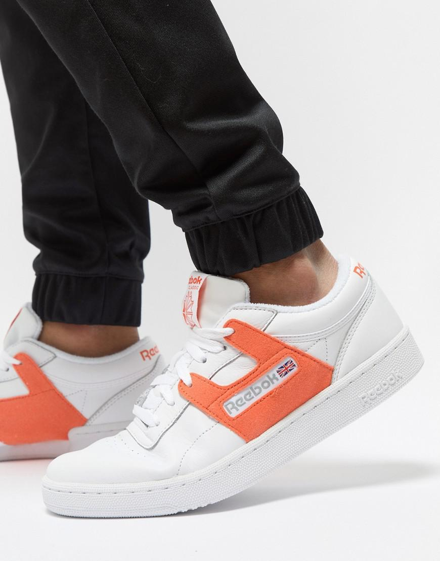 Reebok  leisure Pack  Club Workout Trainers In White Exclusive To Asos in White  for Men - Lyst b2a0e8f25