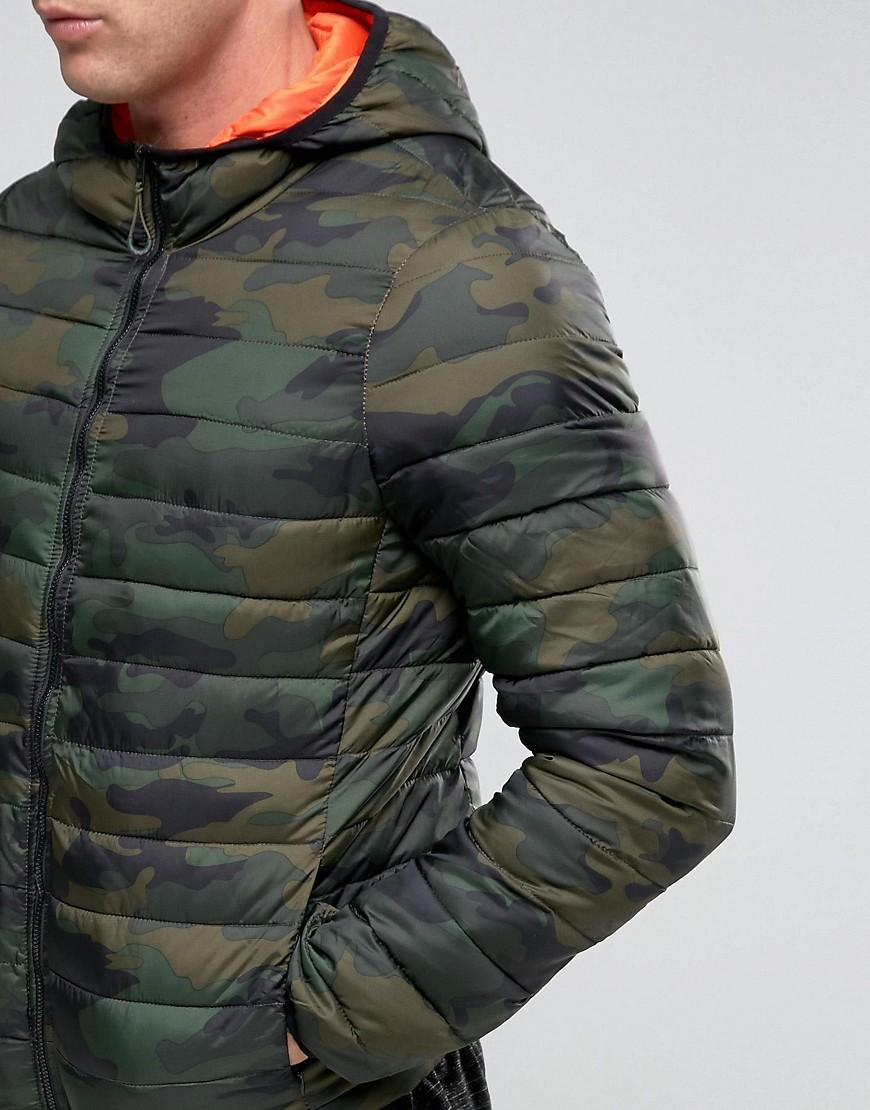 In With Green Hood Padded Men Jacket Camo amp;bear Pull For 9IbWeD2EHY