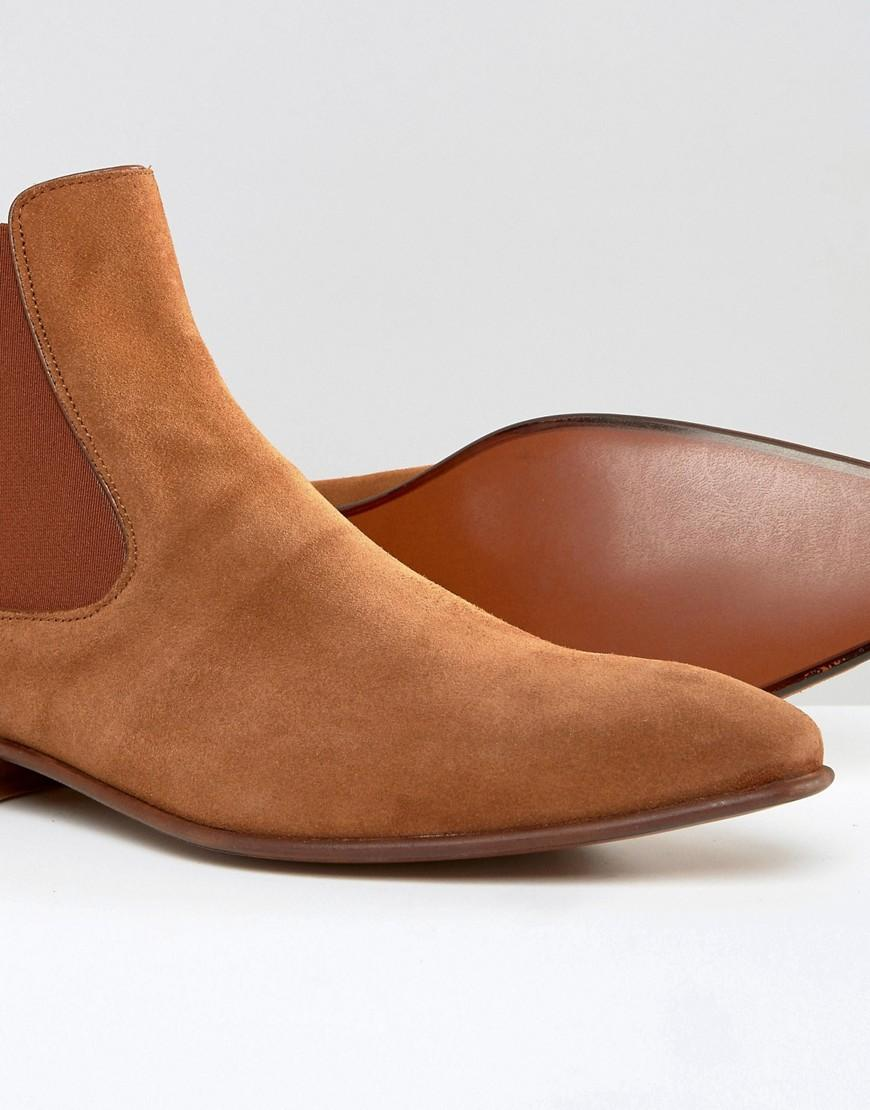ALDO Biondi Suede Chelsea Boots in Tan