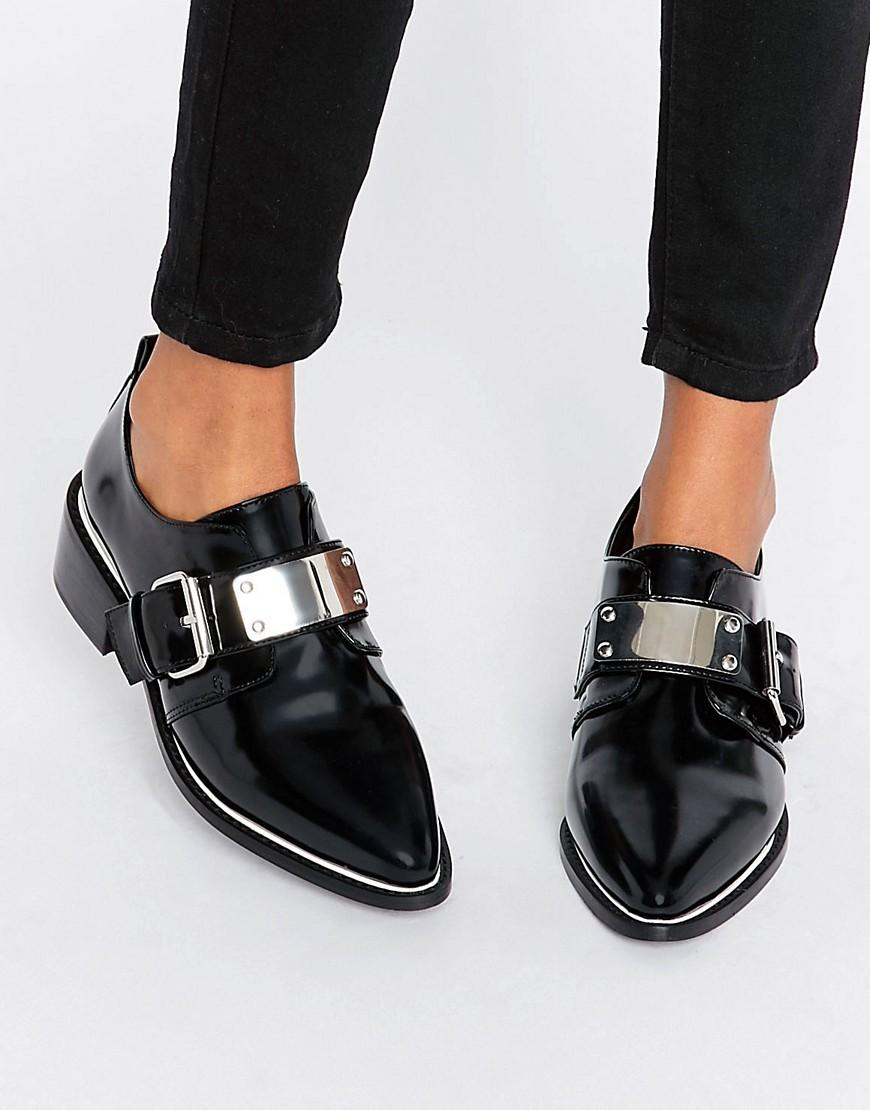 Silver Flat Shoes Asos