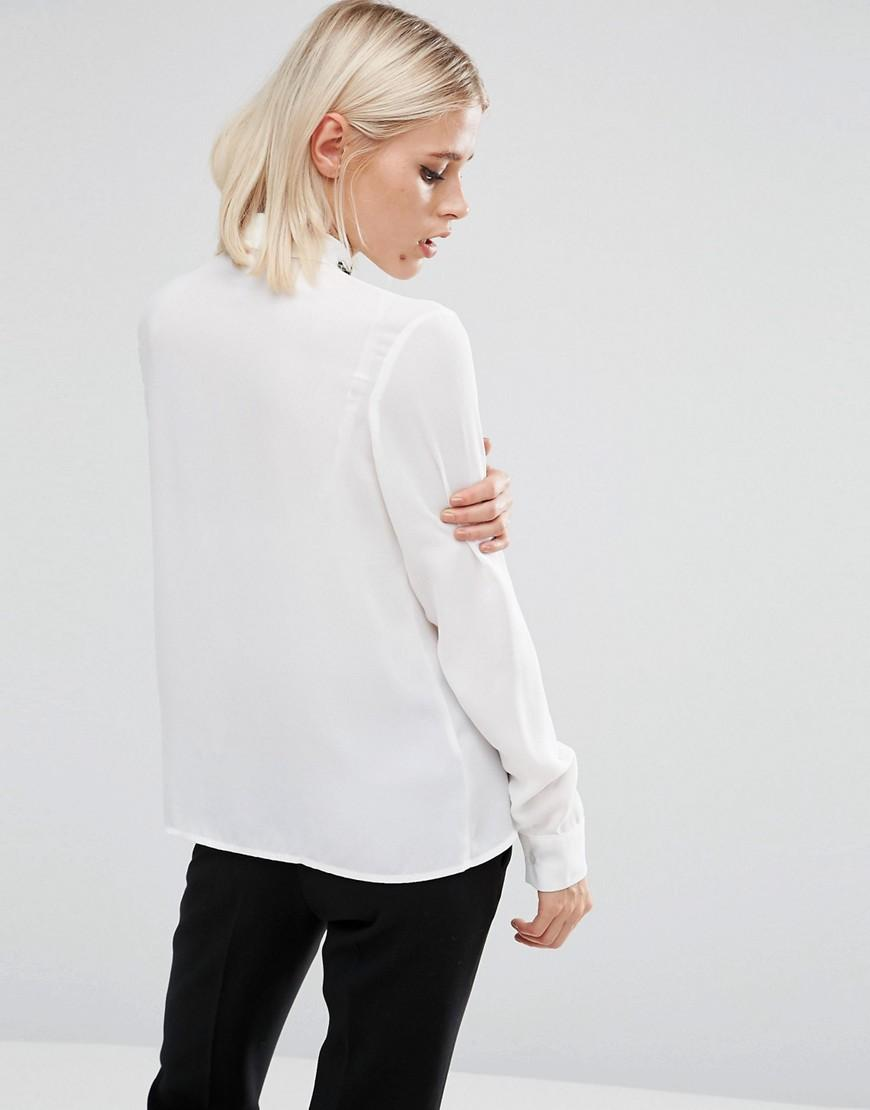 Lyst fashion union long sleeve shirt with embroidered