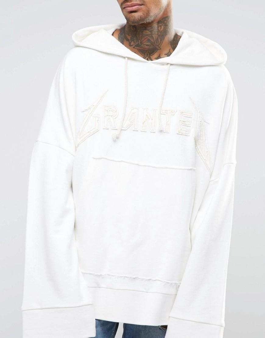 Granted Super Oversized Grunge Hoodie With Extra Long Sleeves in White for  Men - Lyst 2760d81b7c1