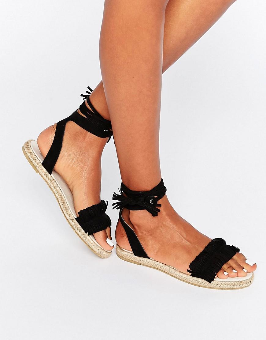 JASIA Espadrille Sandals - Black Asos oV8NLZKFE