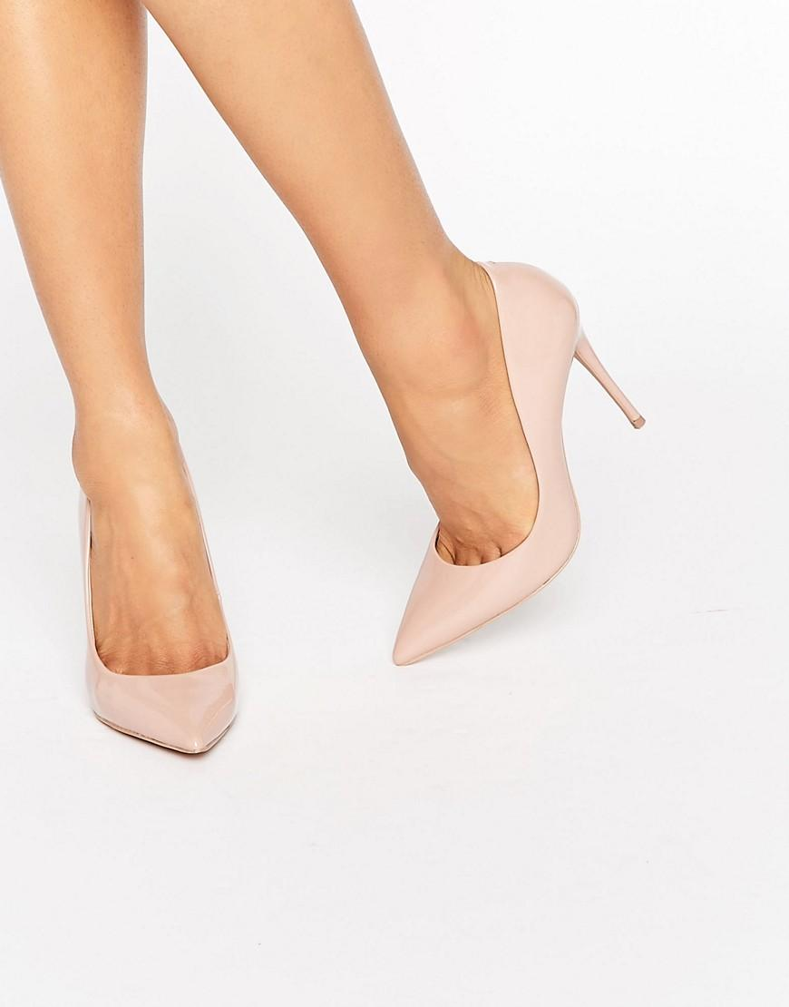ca5490826f0a Lyst - ALDO Stessy Nude Point Court Shoes in Natural