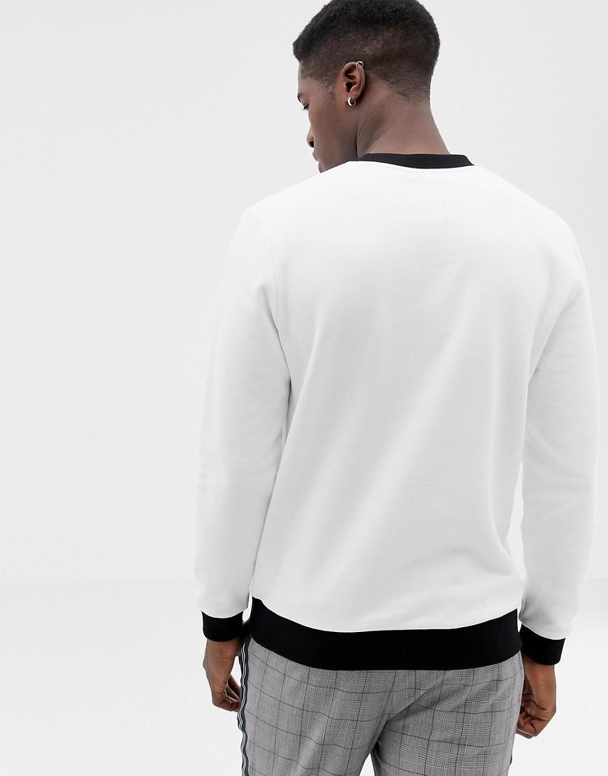 ASOS Katoen Kerstmis - Sweatshirt Met 'sleigh My Name'-print in het Wit voor heren
