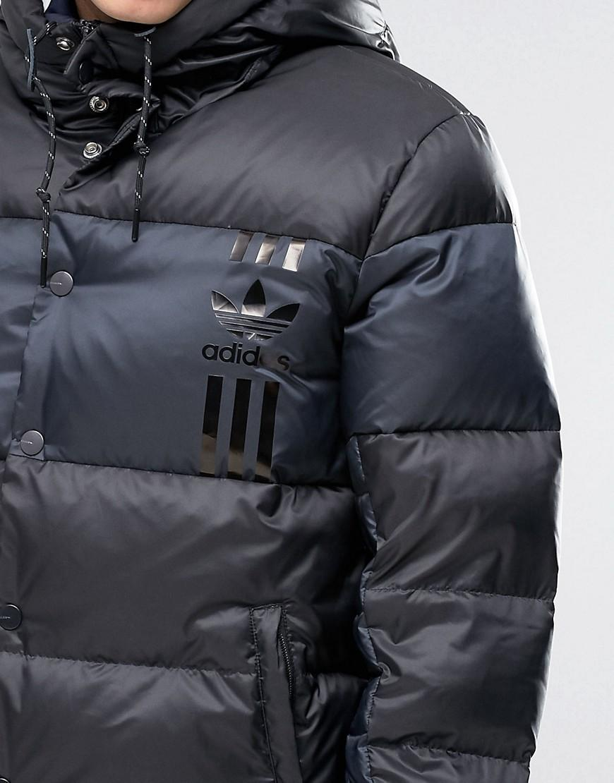 Lyst Adidas Originals Id96 Quilted Jacket In Black