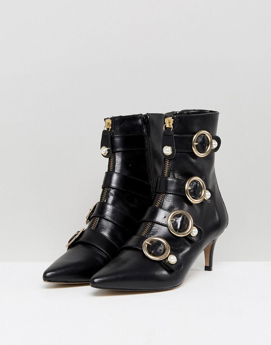 a55541649b1a Carvela Kurt Geiger Black  sparky  Mid Heel Ankle Boots in Black - Save 53%  - Lyst