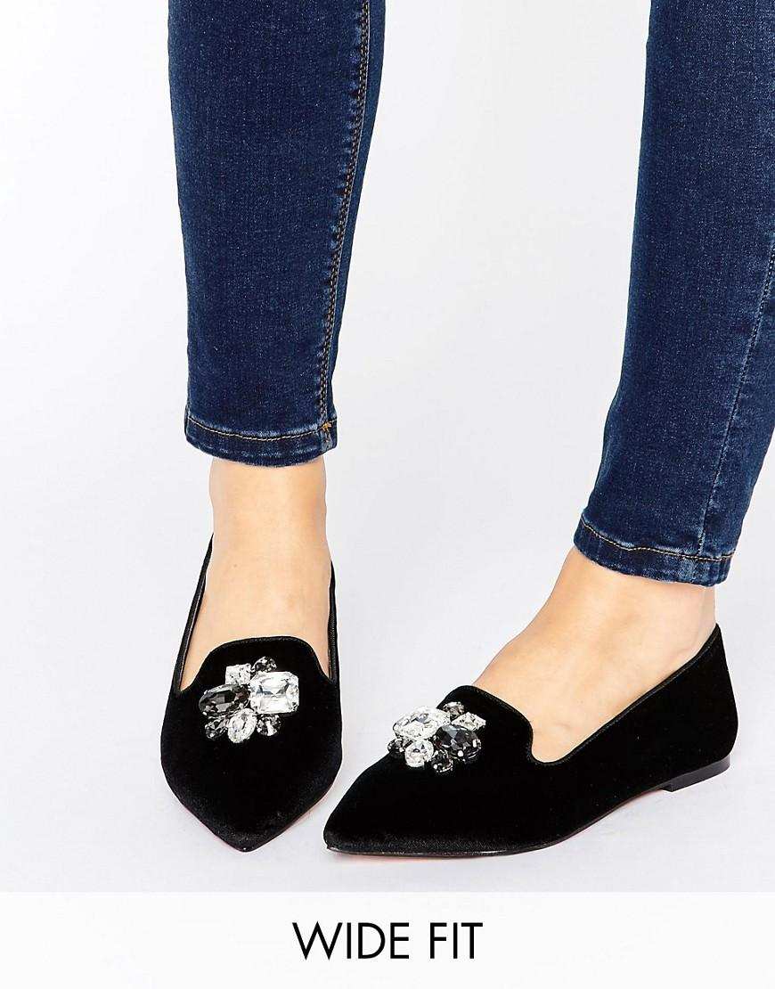 Flat Velvet Shoes Womens Asos