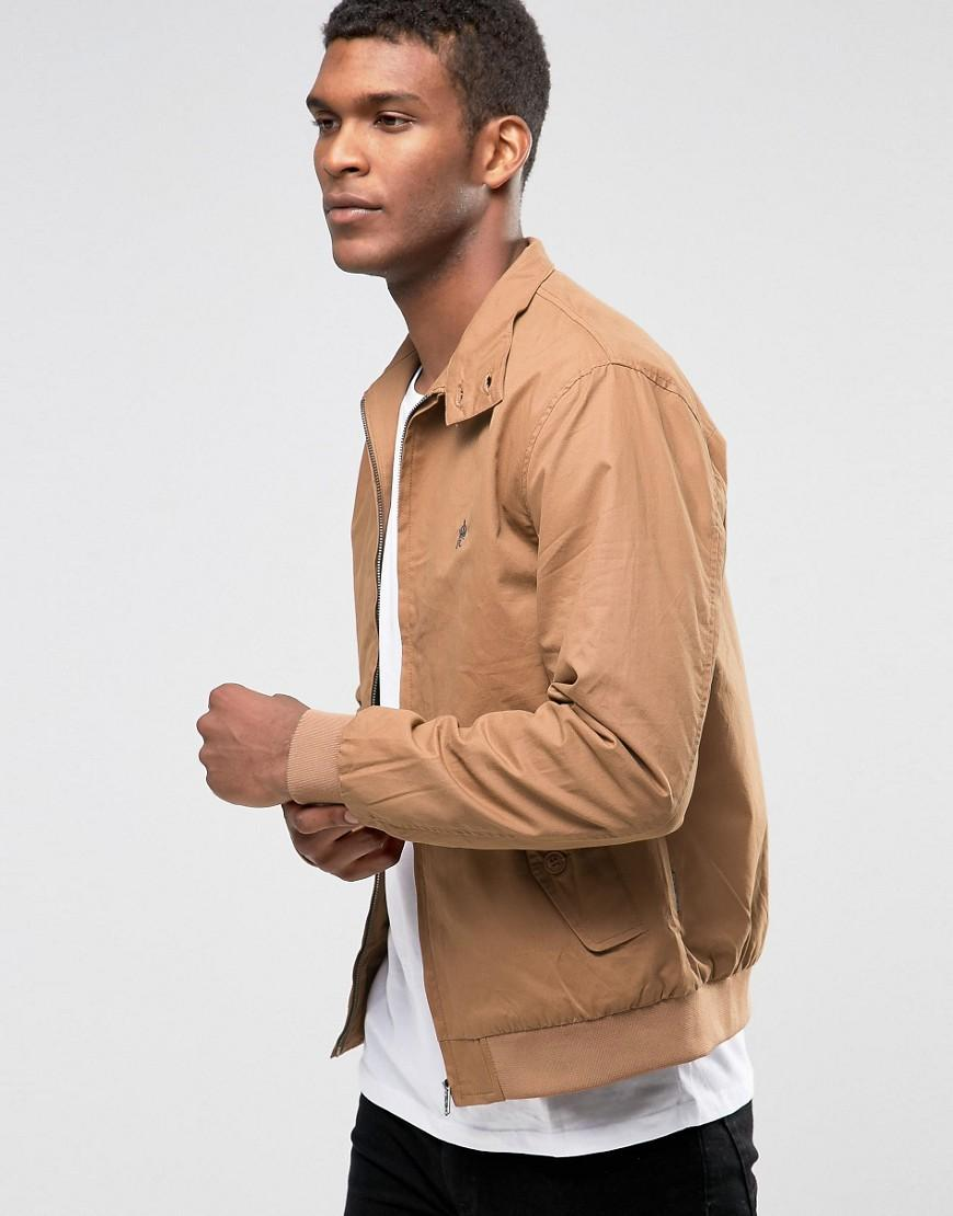 53117dadeb5 French Connection Harrington Jacket in Gray for Men - Lyst