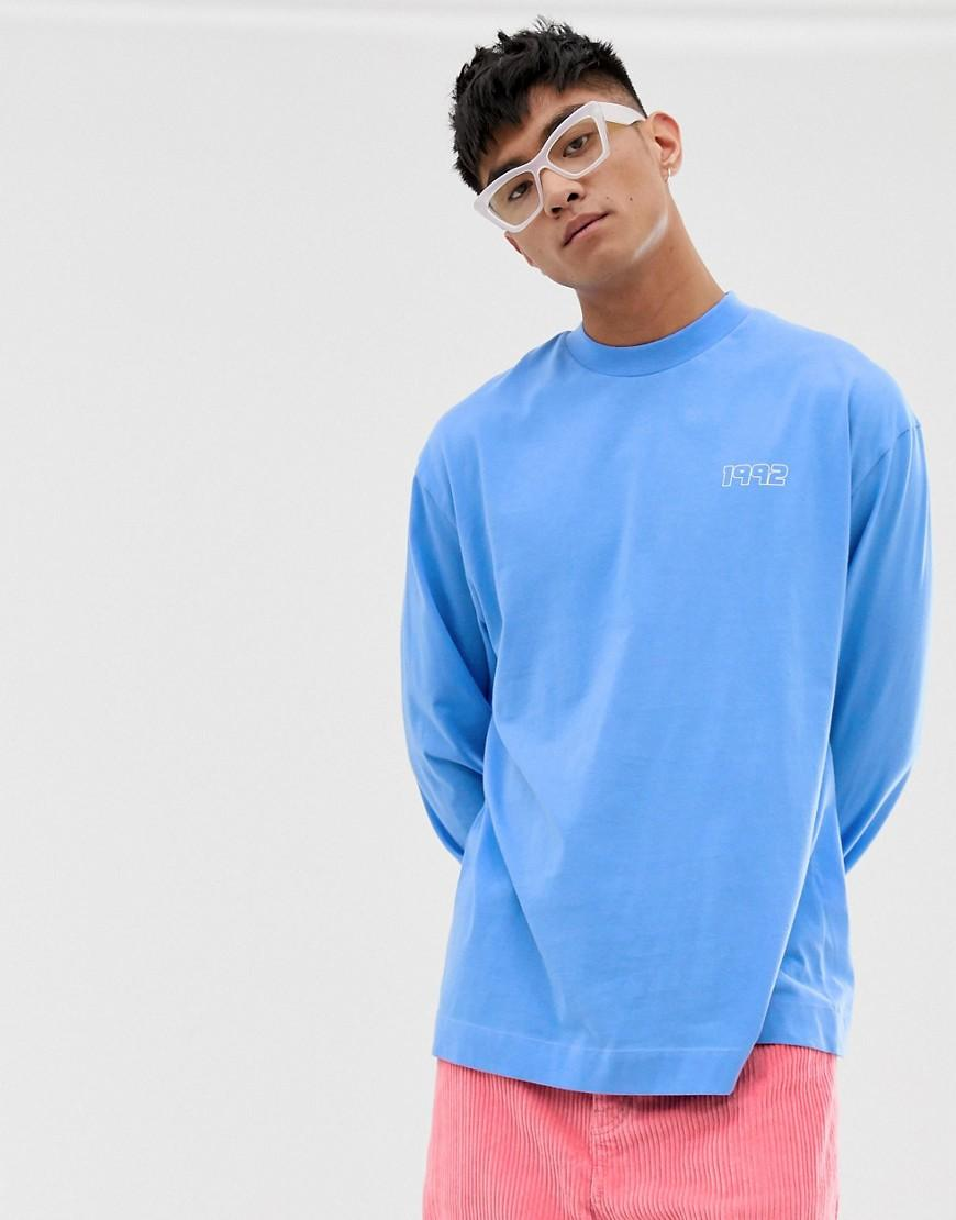 bb0c9eea6c2 Collusion - Blue Long Sleeve T-shirt With Back Print for Men - Lyst. View  fullscreen