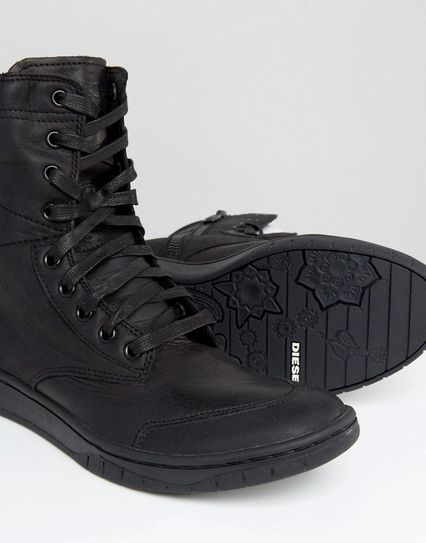 Lyst - Diesel Boulevard Lace Up Boots - Black in Black for Men