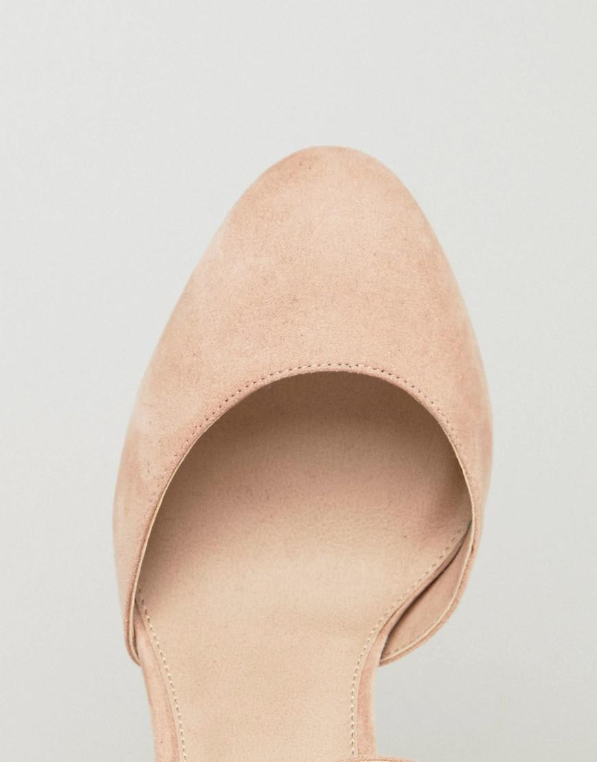 4e85f23a288 ASOS Playdate Wide Fit High Heels in Natural - Lyst