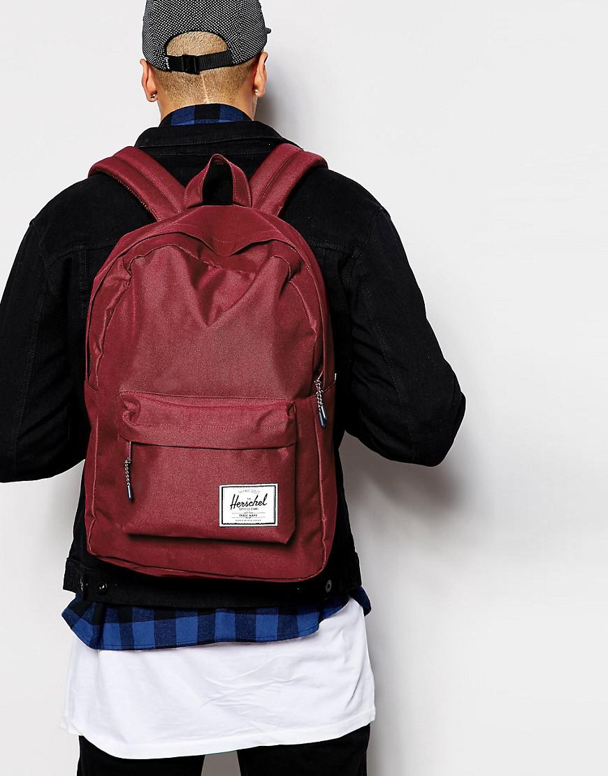 Herschel Supply Co. Canvas Classic Backpack in Red for Men