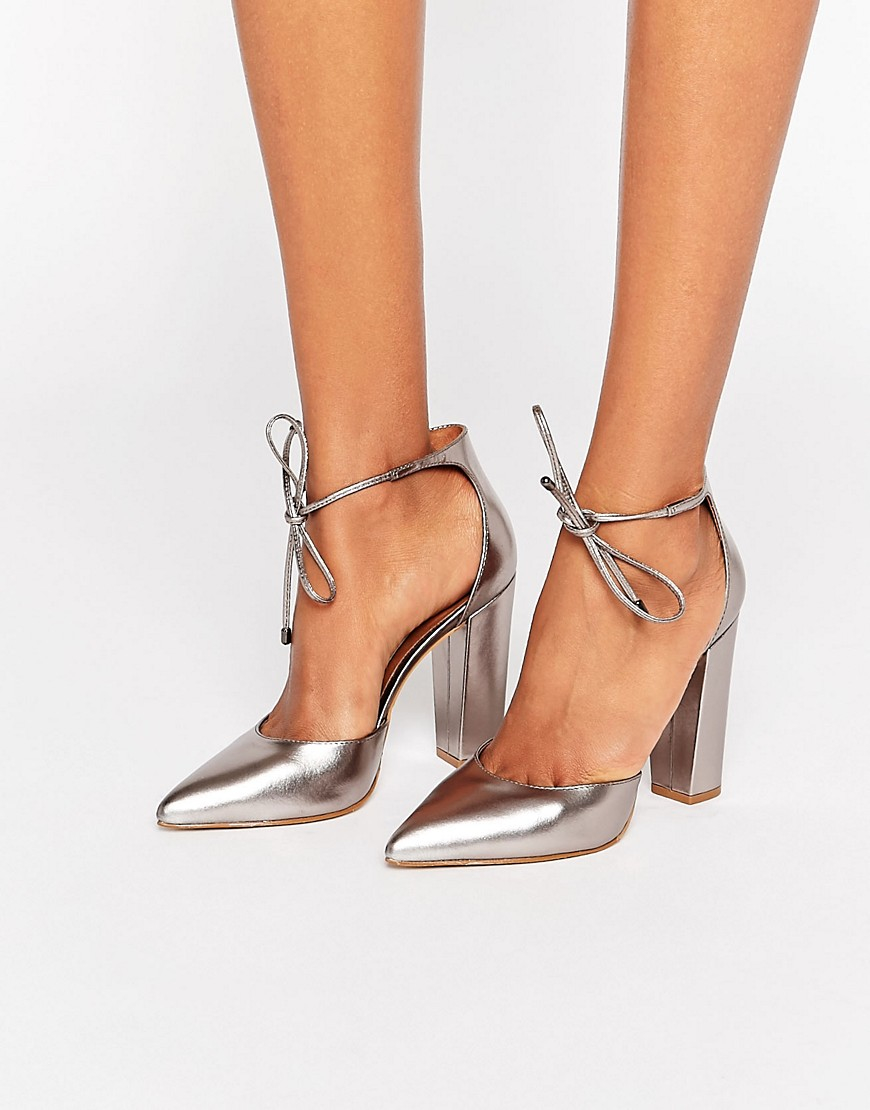 Steve Madden Pampered Pewter Heeled Shoes In Metallic Lyst