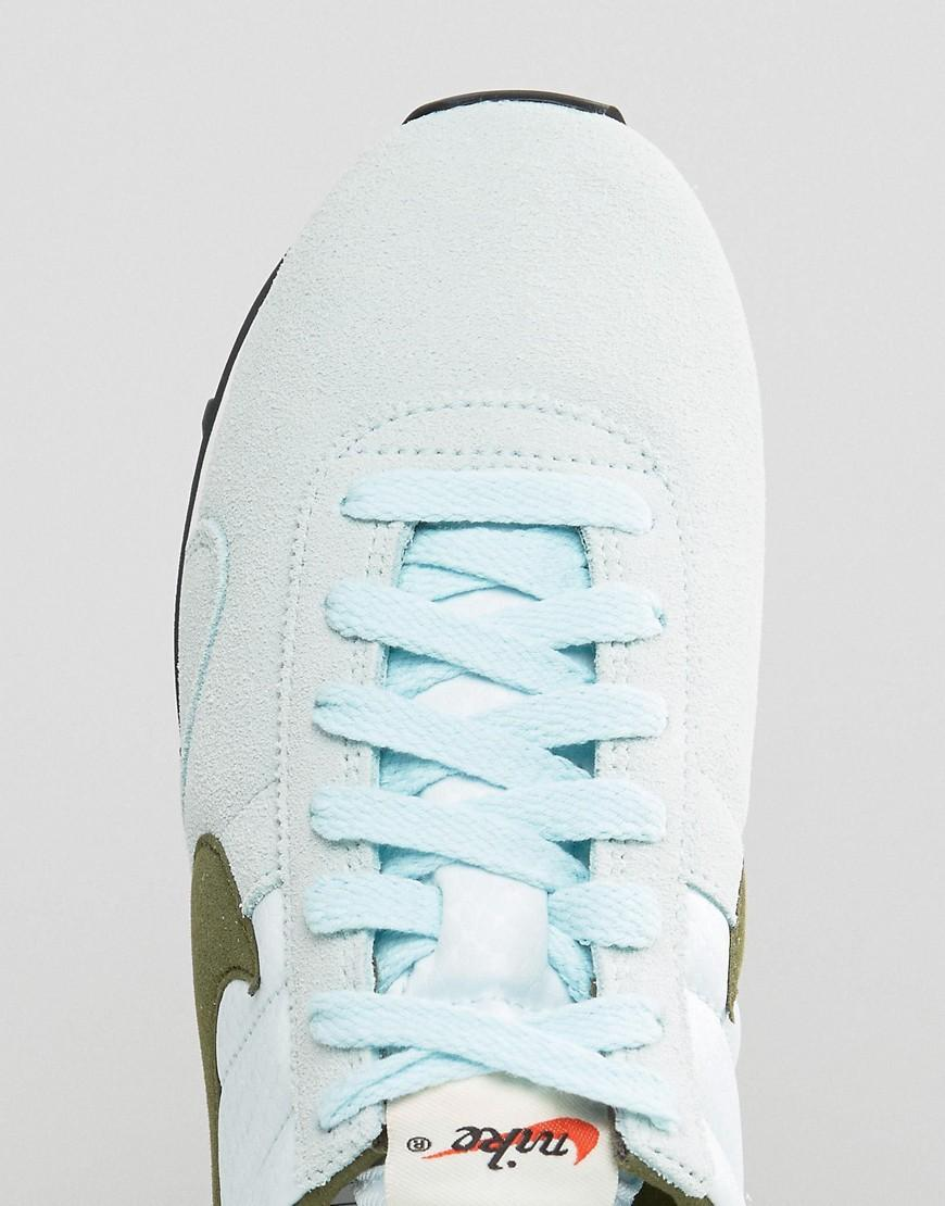 Nike Suede Pre Montreal Trainers In Blue