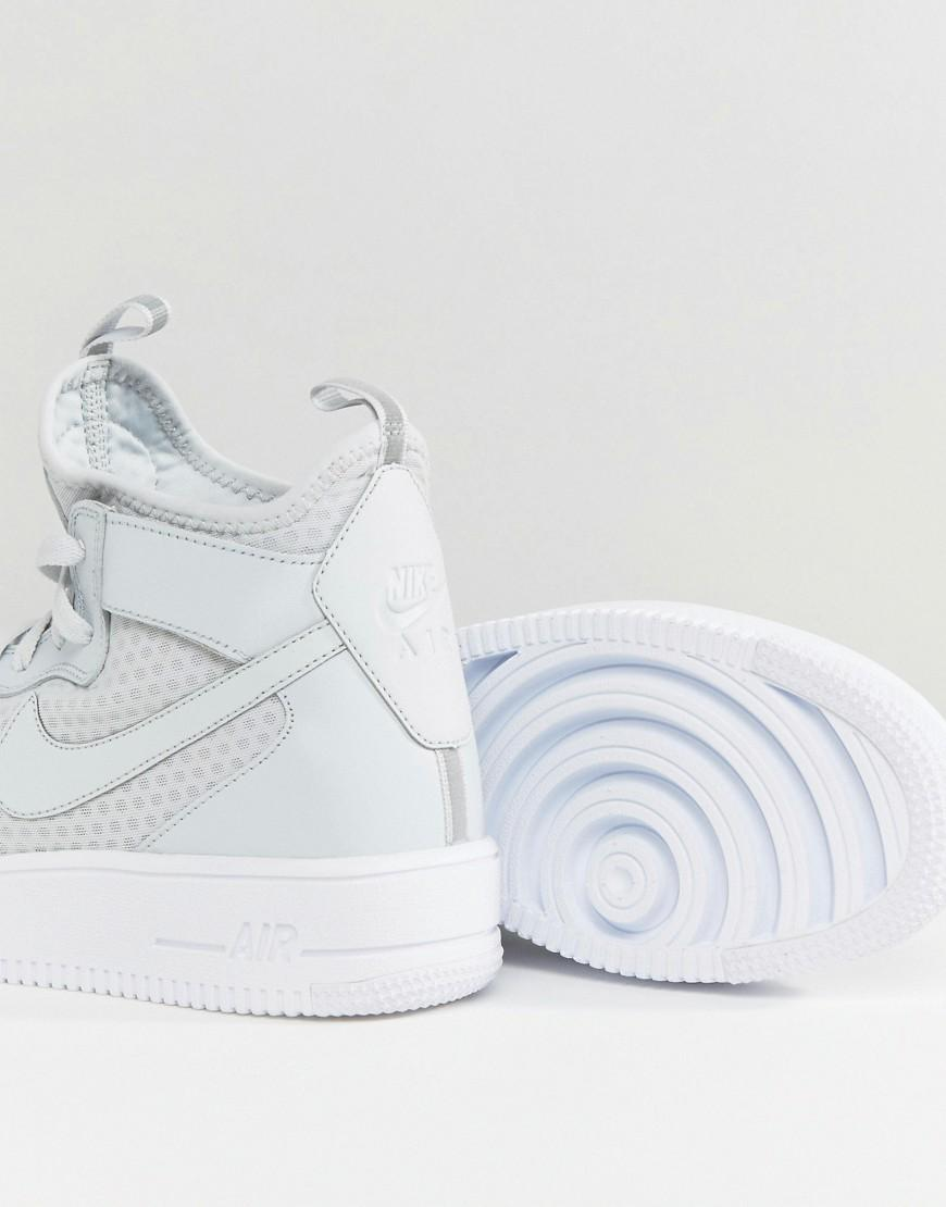 Nike Leather Air Force 1 Ultraforce Mid Trainers In White 864014-002 for Men