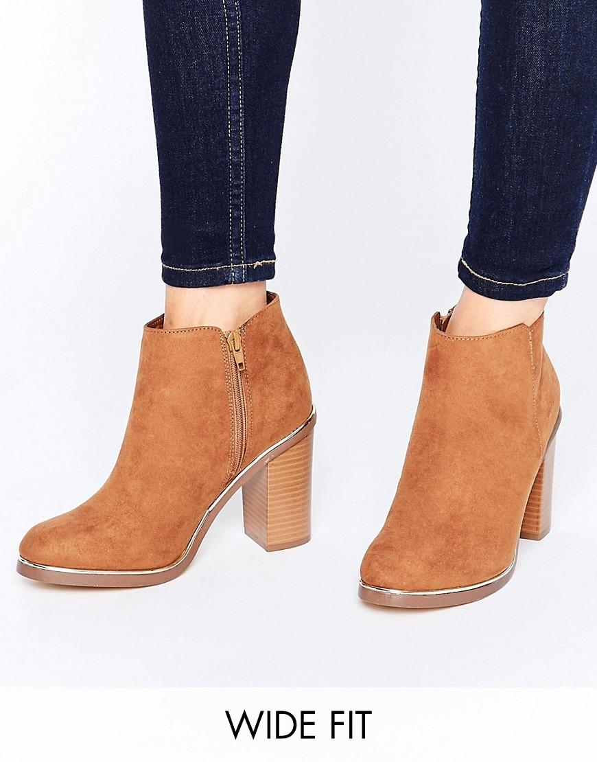 Lyst New Look Metal Detail Ankle Boots In Brown