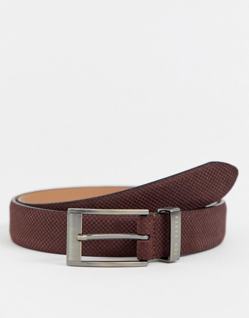 5e10e1409 Ted Baker - Brown Consway Leather Belt In Dark Brick for Men - Lyst. View  fullscreen