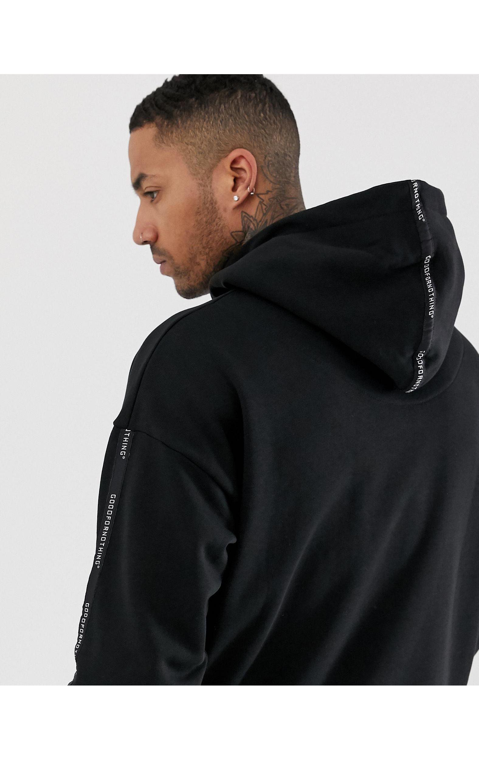 Good For Nothing Katoen Hoodie Met Logobies in het Zwart voor heren