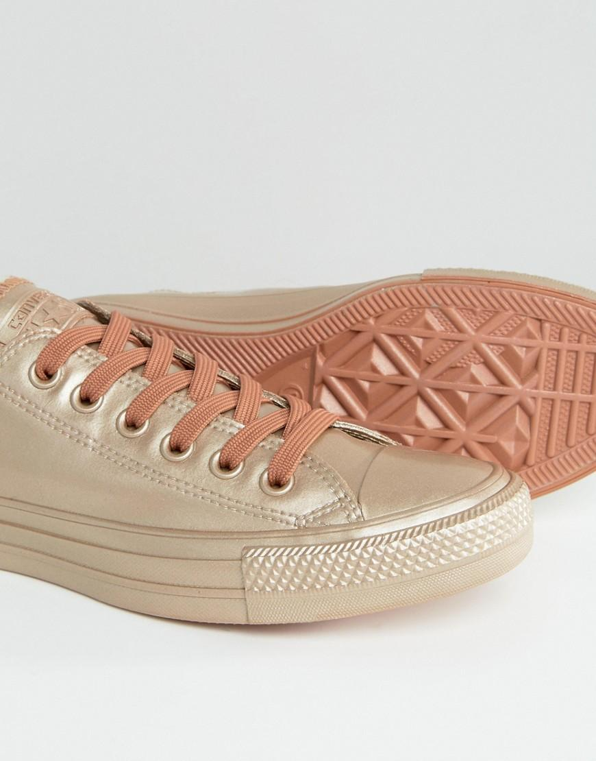 Converse Chuck Taylor All Star Bronze Metallic Rubber Trainers