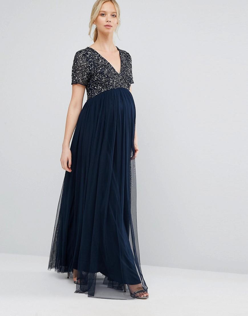 Rare sequin bustier maxi dress
