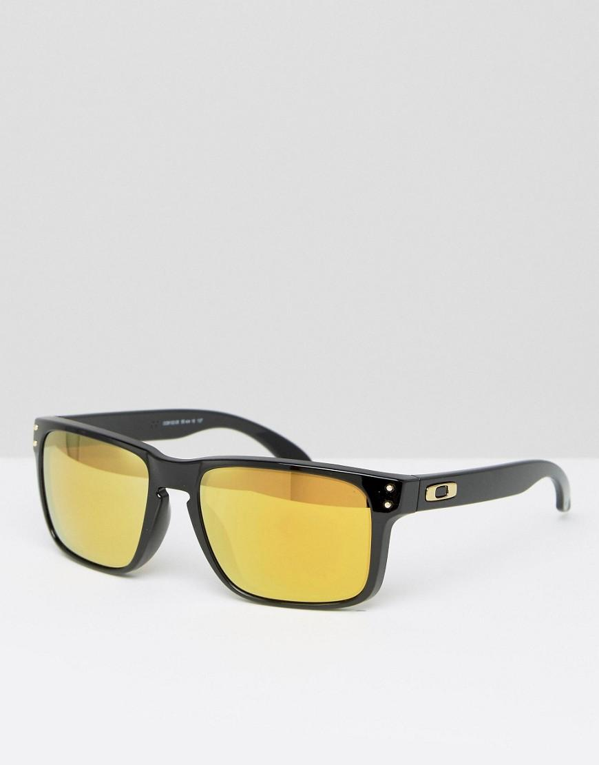 c1a90a7d7a Oakley Square Sunglasses With Yellow Lens in Black for Men - Lyst