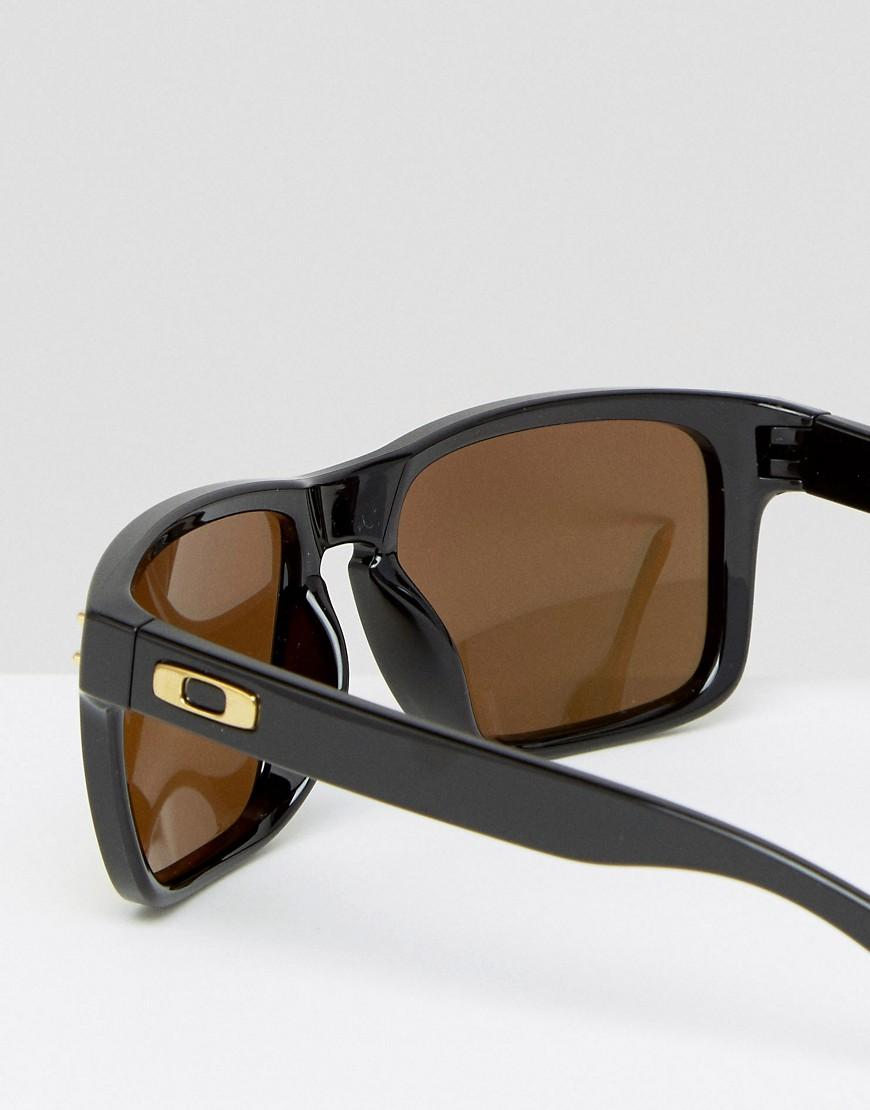 Oakley Square Sunglasses With Yellow Lens in Black for Men
