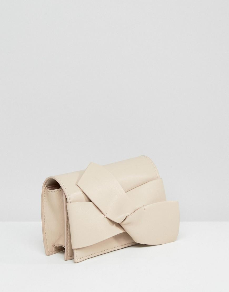 Mango Bow Cross Body Bag in Cream (Natural)