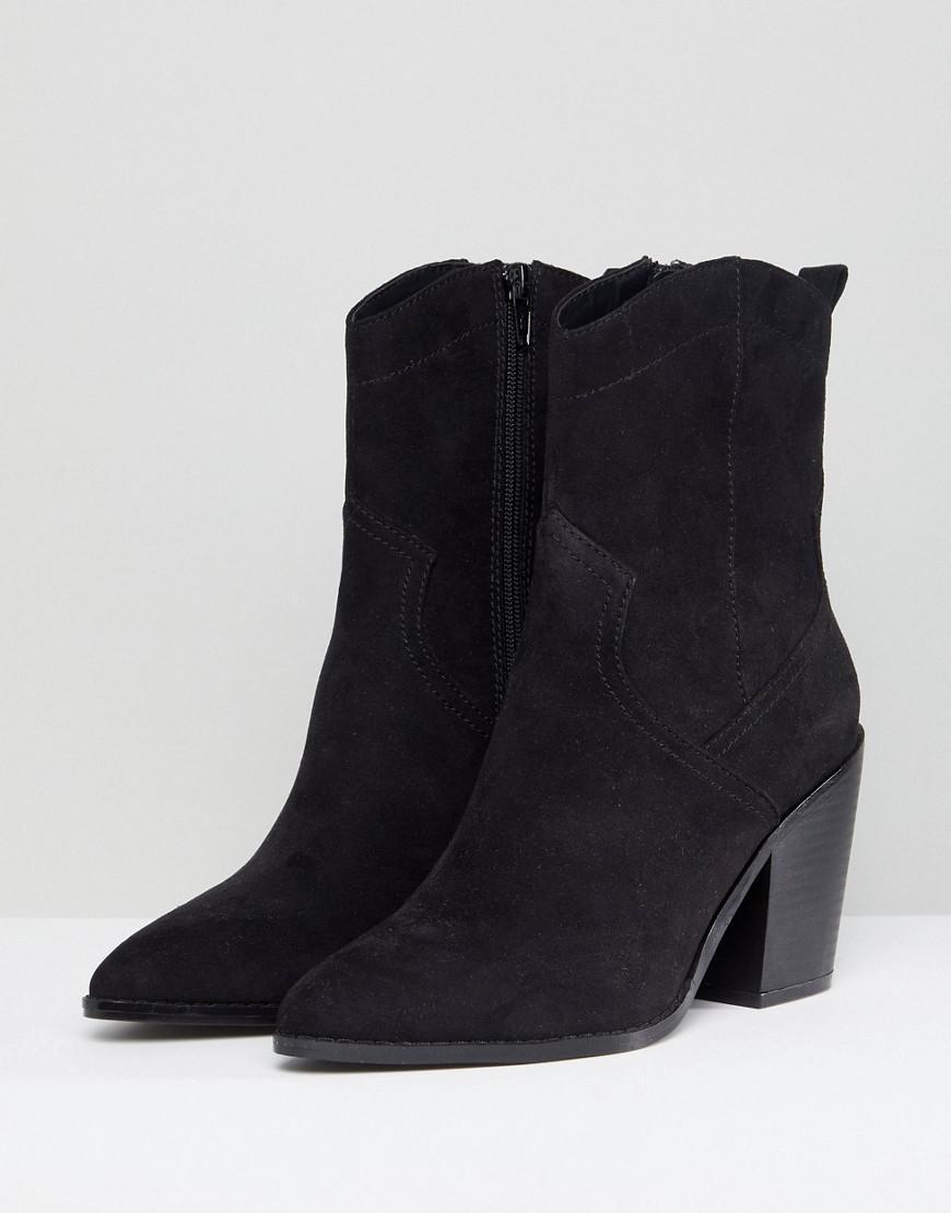 86eaec8a39c Asos Asos Eslyn Western Boots in Black - Lyst