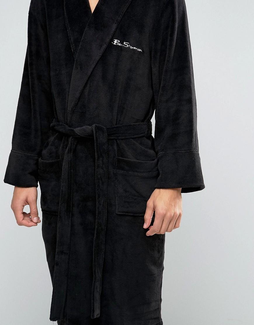 Ben Sherman Dressing Gown In Black - Black in Black for Men - Lyst
