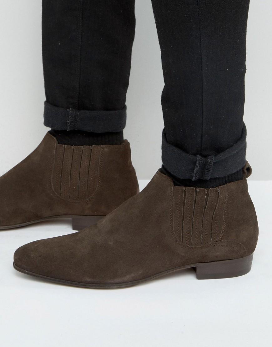 h by hudson zelus suede chelsea boots in brown for men lyst. Black Bedroom Furniture Sets. Home Design Ideas