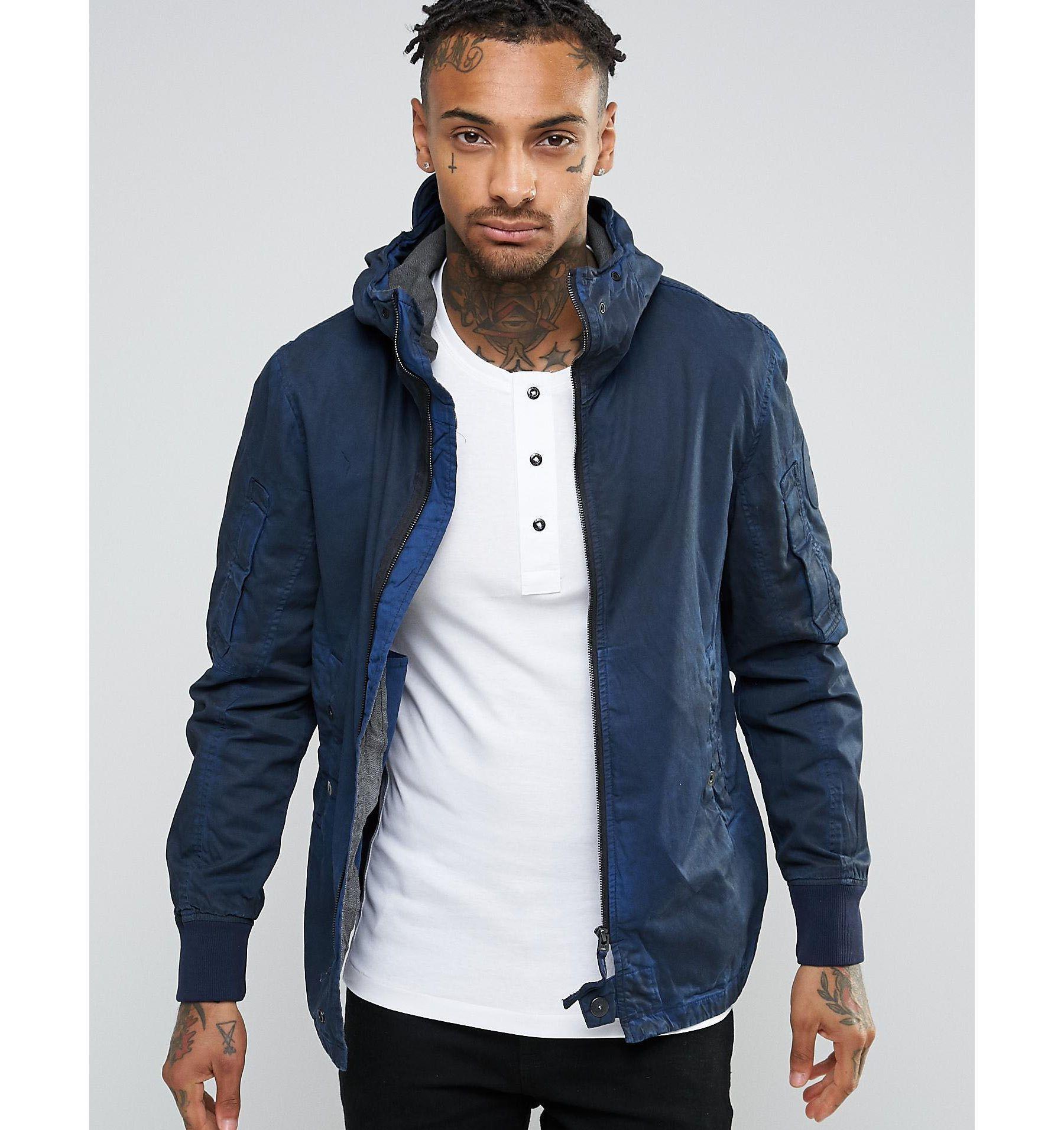 G-star raw Hudson Blue Shirt Jacket in Blue for Men | Lyst