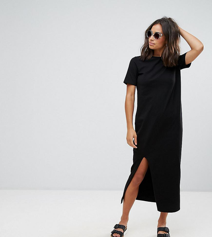 Lyst Asos Ultimate T Shirt Maxi Dress In Black