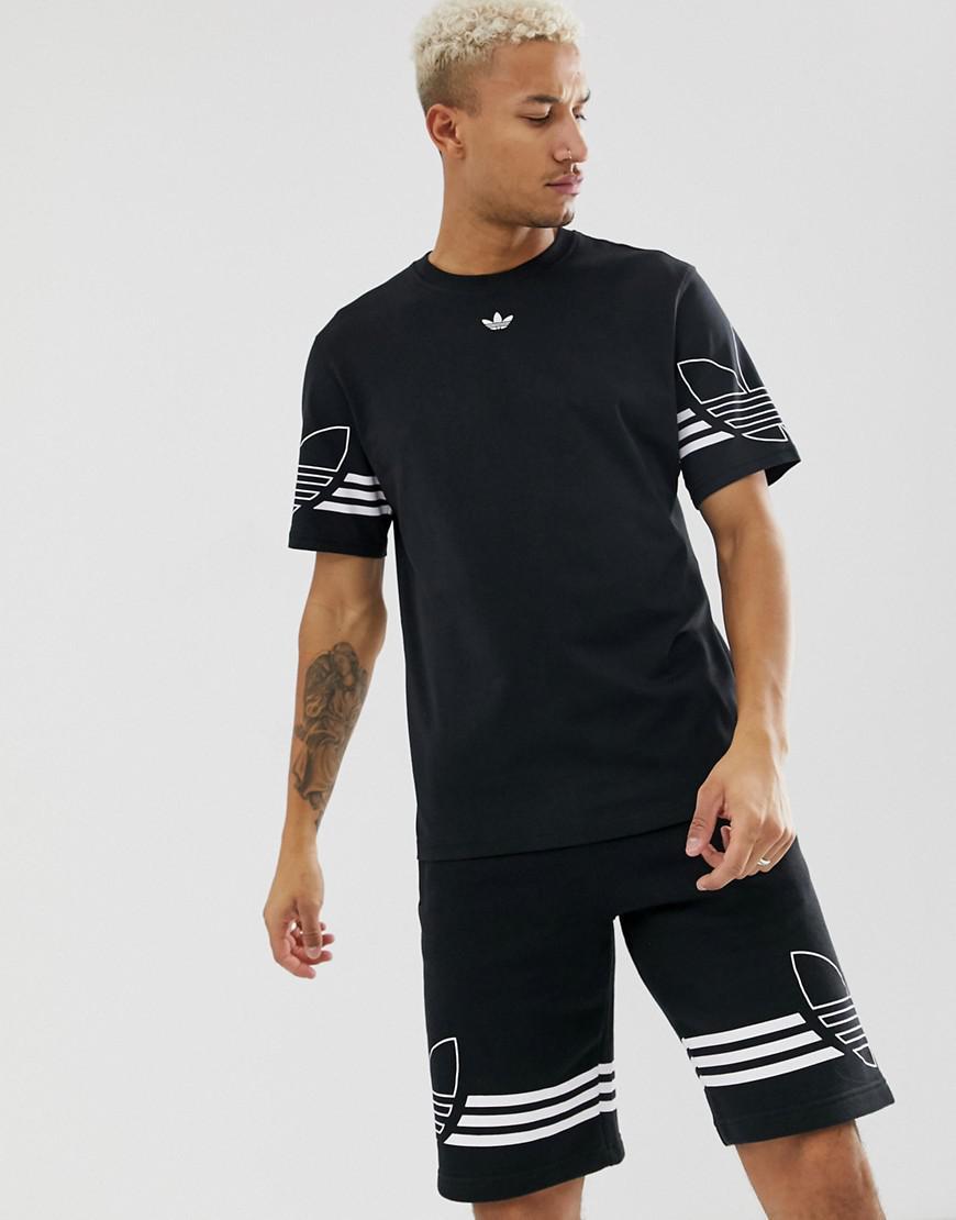 adidas Originals Cotton T-shirt Outline Trefoil Logo Du8145 in ...