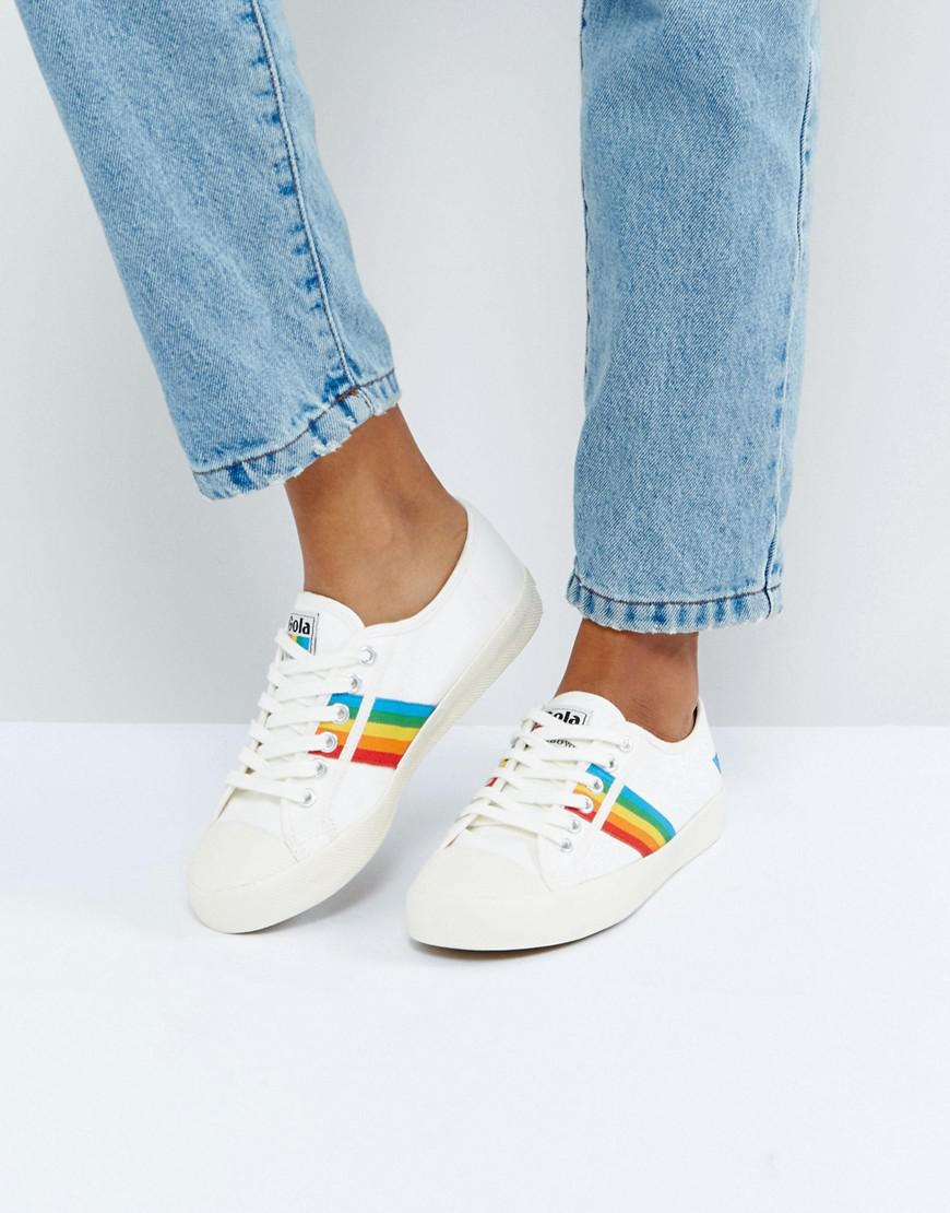 Gola Coaster Sneakers In Off White With