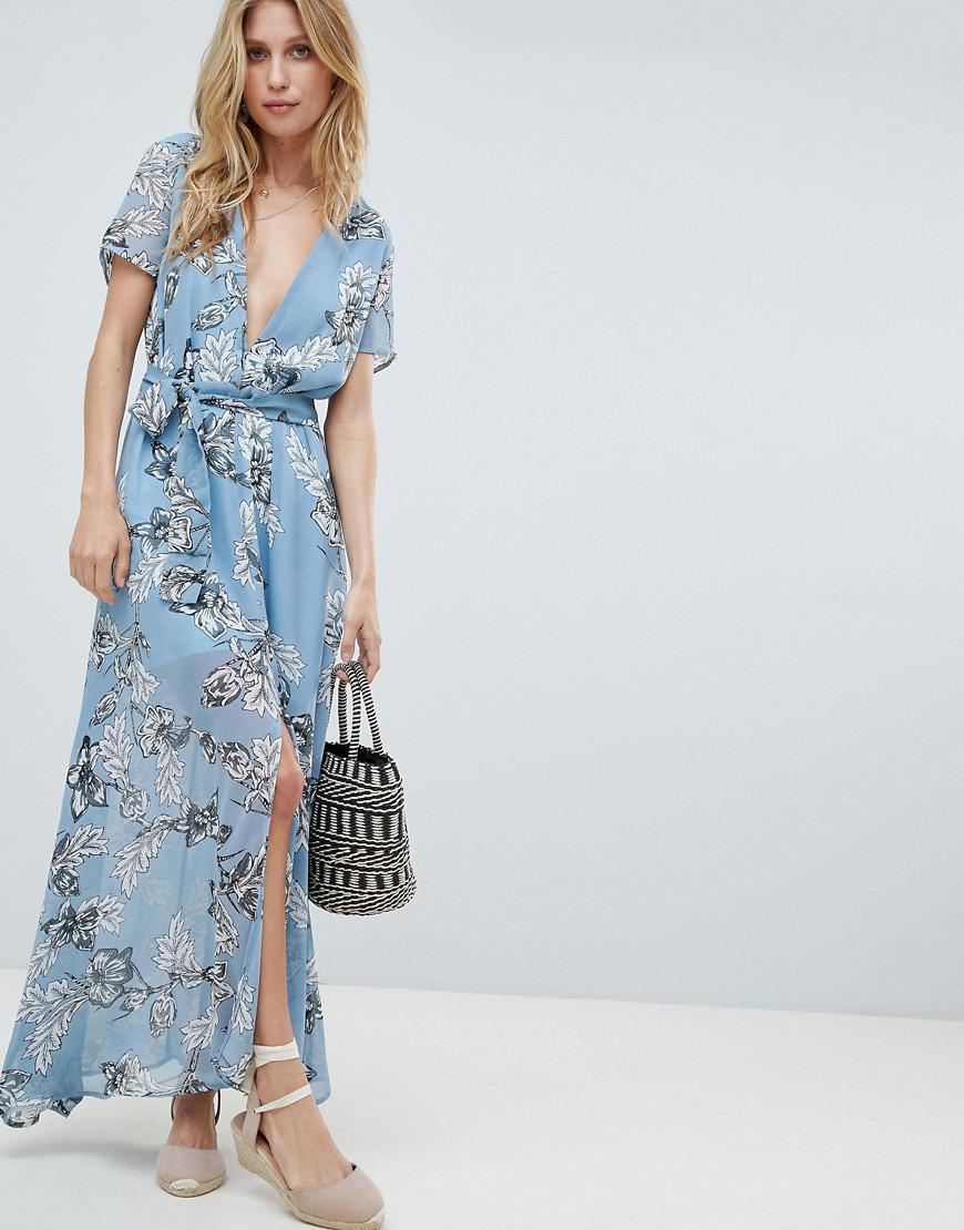 570b6415d5e Blue Floral Maxi Dress – Fashion dresses