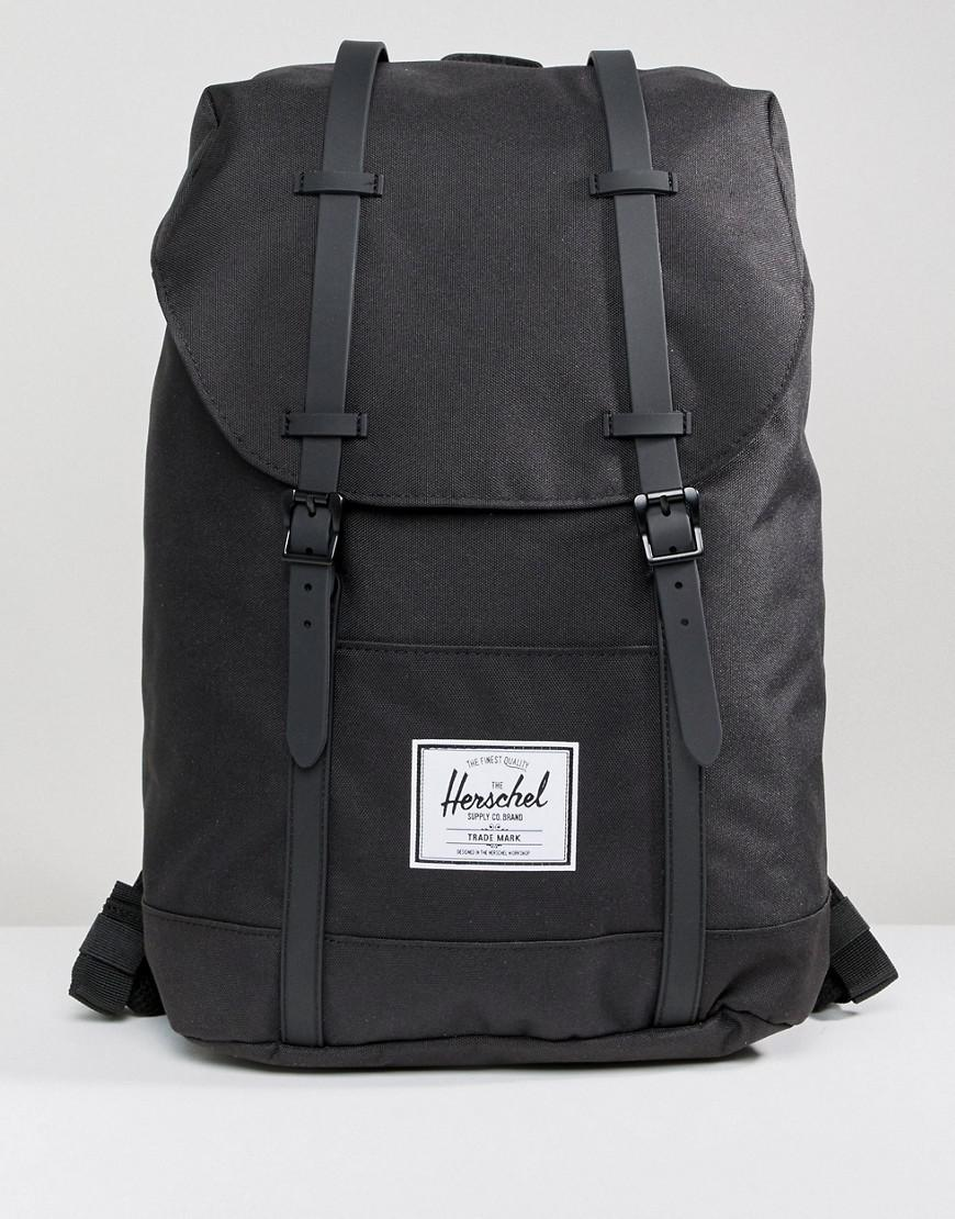 727a3966bb11 Lyst - Herschel Supply Co. Retreat Backpack In Black With Rubberised ...