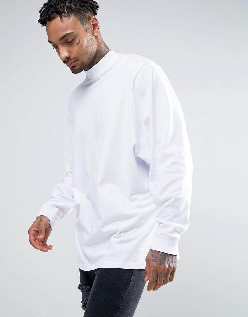 Outlet Get Authentic Cheap Choice Oversized Long Sleeve T-Shirt With Extreme Batwing In Cropped Length In White - White Asos 4FMfXcg4