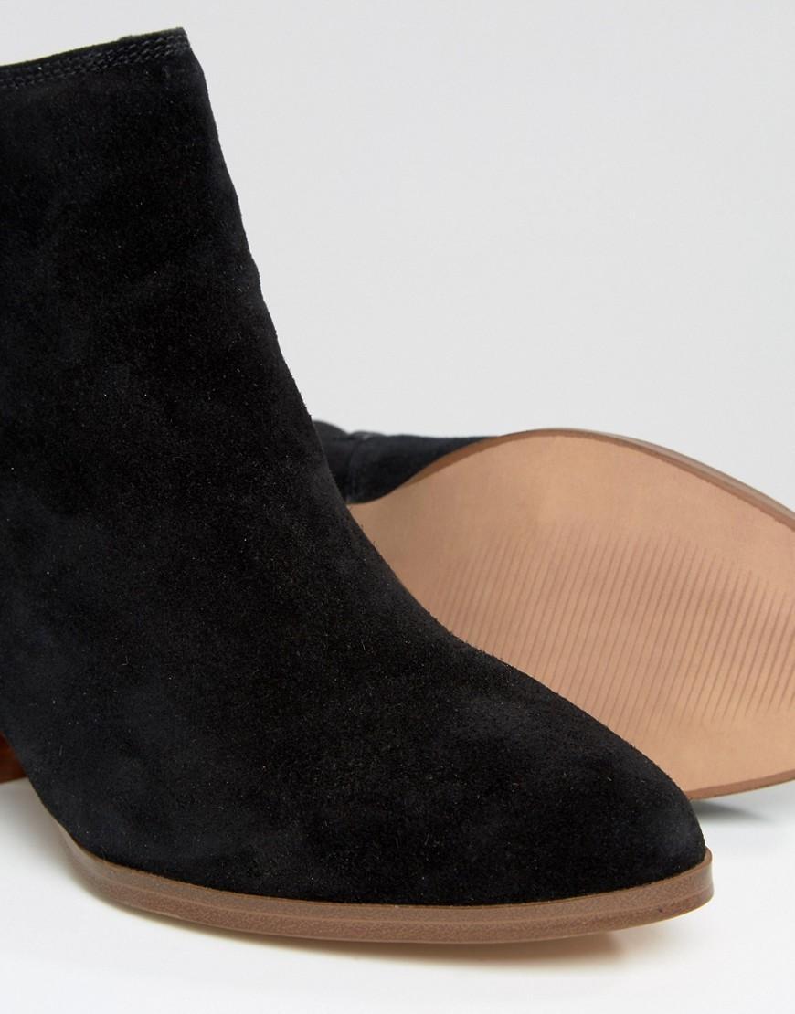 ALDO Suede Lillianne Mid Heel Boots in Black