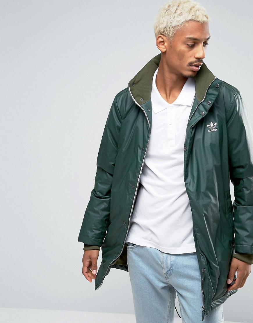 369b9b29f638 adidas Originals Fallen Future Parka Jacket In Khaki Br1812 in Green ...