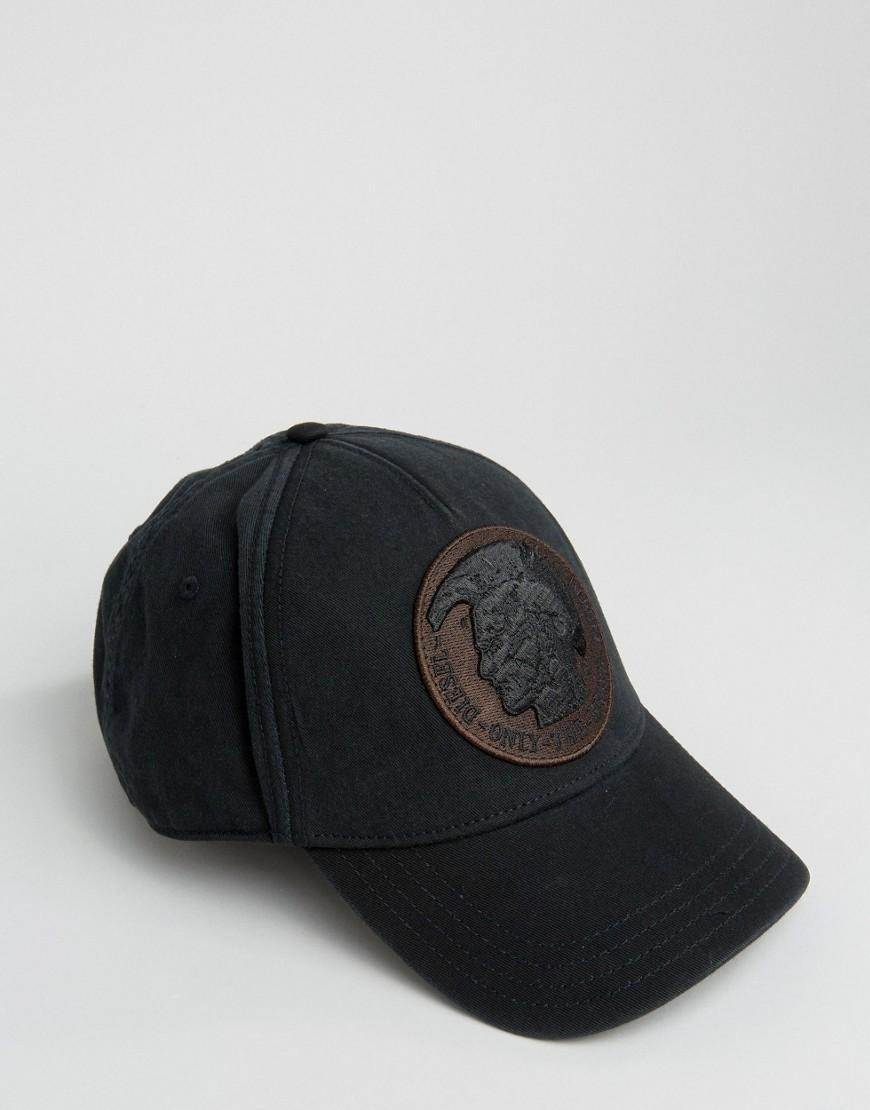 diesel cindians baseball cap in black in black for men lyst. Black Bedroom Furniture Sets. Home Design Ideas