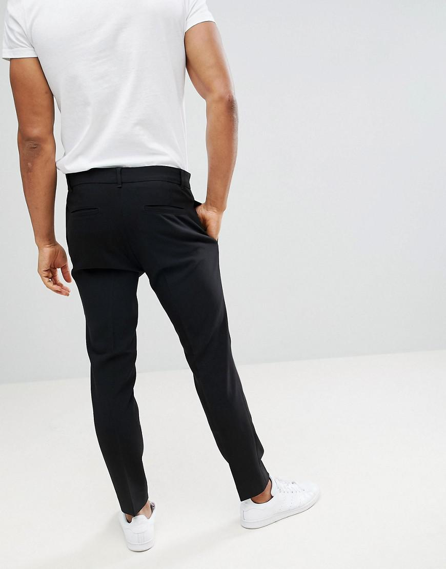 Weekday Denim Riffle Pants Black for Men